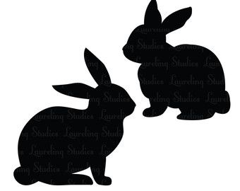 Easter Rabbit Silhouette