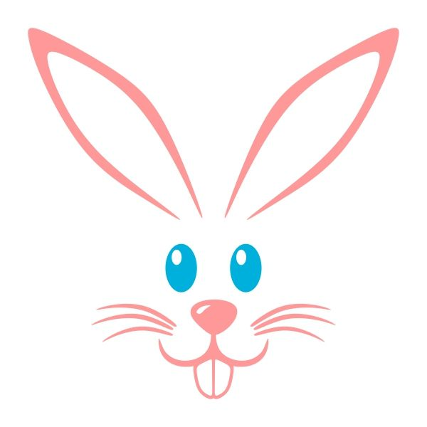 600x600 Rabbit Head Clipart Silhouette Collection