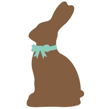 432x432 Chocolate Easter Bunny Svg Cutting File For Scrapbooking Easter