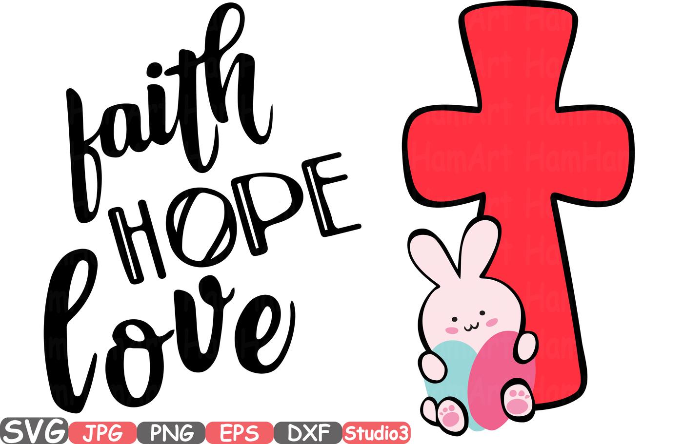 1400x911 Easter Silhouette Svg Faith Hope Love Bunny Cross Eggs 71sv By