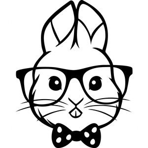 300x300 Silhouette Design Store Hipster Easter Bunny Sophie Gallo