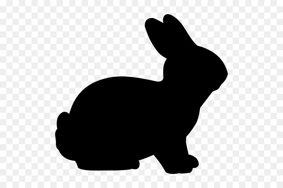 900x600 Easter Bunny Rabbit Silhouette Clip Art