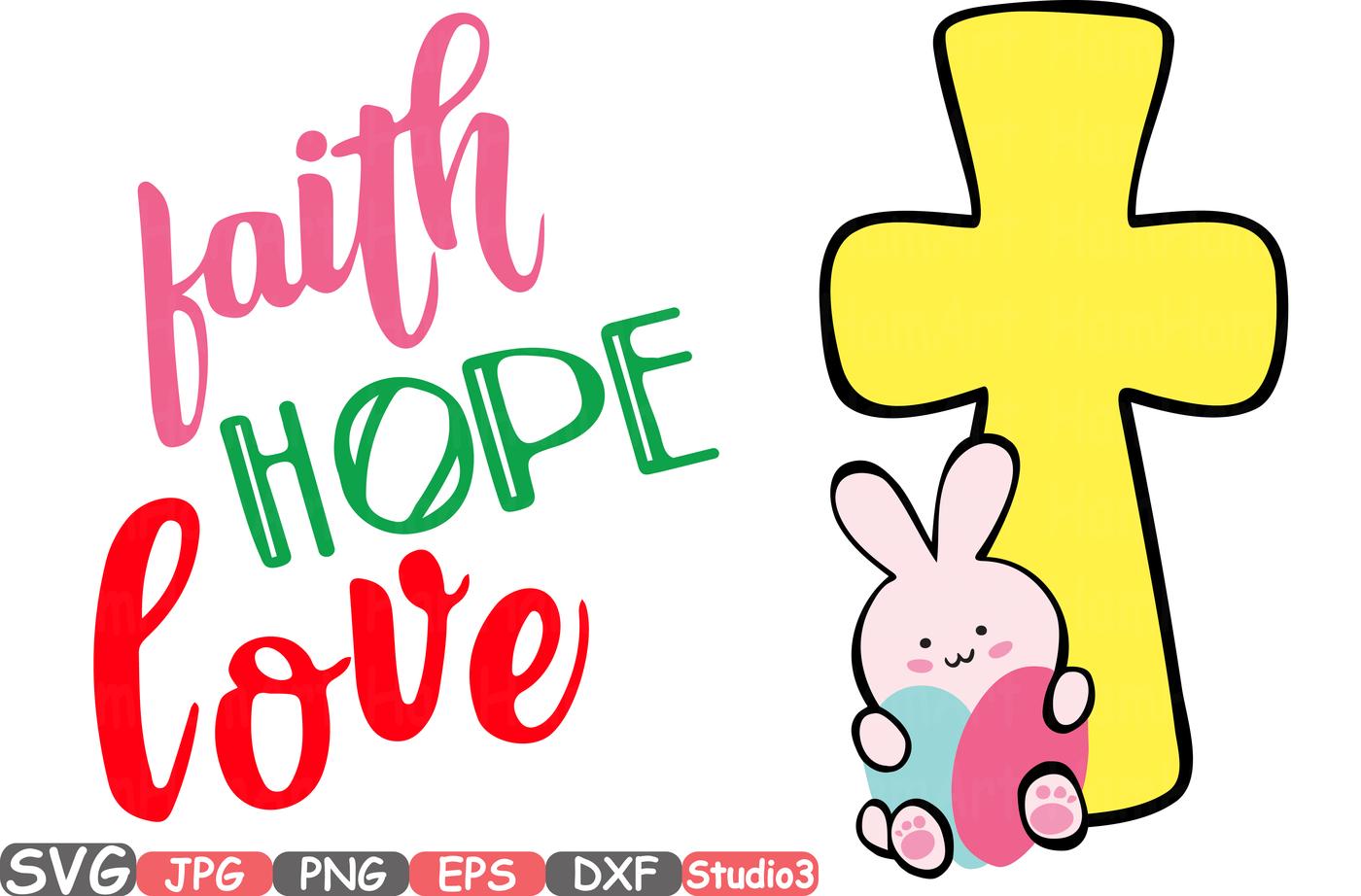 1400x922 Easter Silhouette Svg Faith Hope Love Bunny Cross Eggs 71sv By