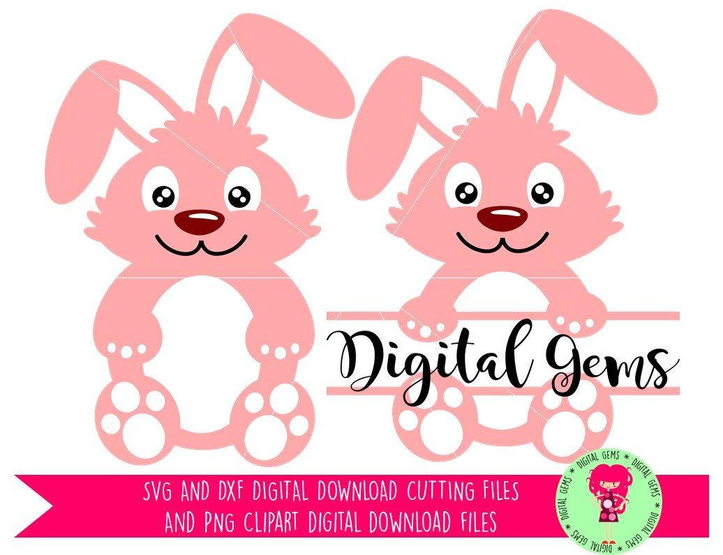 1036x796 Cute Rabbit, Bunny, Easter, Split Animal, Svg Dxf Cutting Files