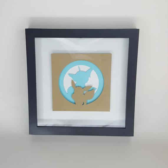 570x570 133 134 Eevee Vaporeon Inspired Silhouette Papercraft In 8x8