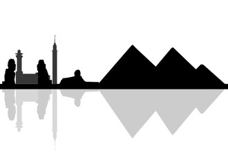 330x240 Black Vector Egypt Silhouette Skyline