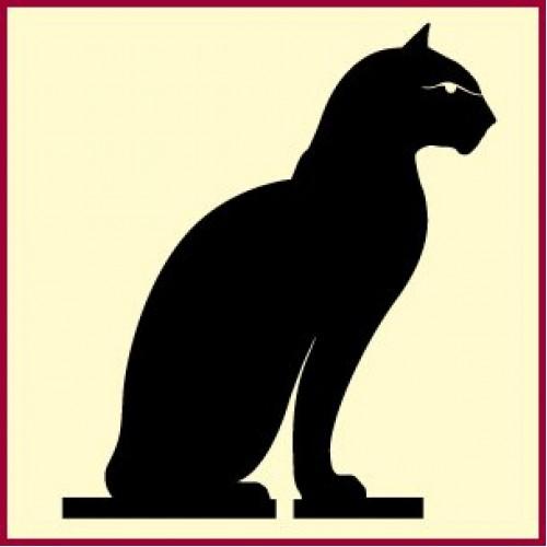 500x500 Egyptian Cat Stencil Ancient Egyptian Cat Stencils Black