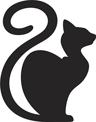 394x500 Black Sphynx Abyssinian Egyptian Kitty Cat Silhouette