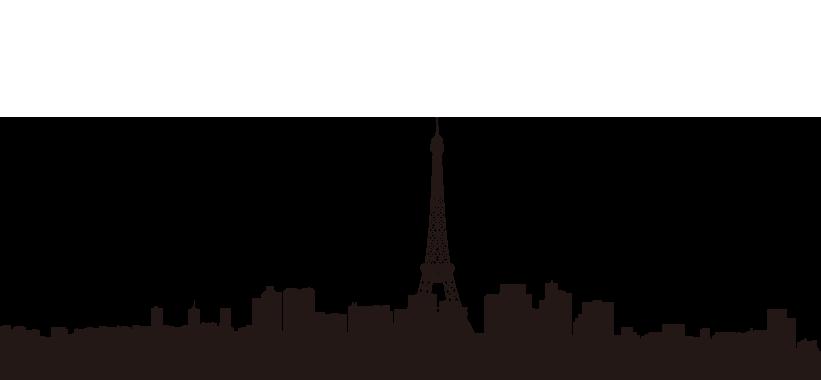 821x380 Eiffel Tower Skyline Wall Decal Silhouette Clip Art