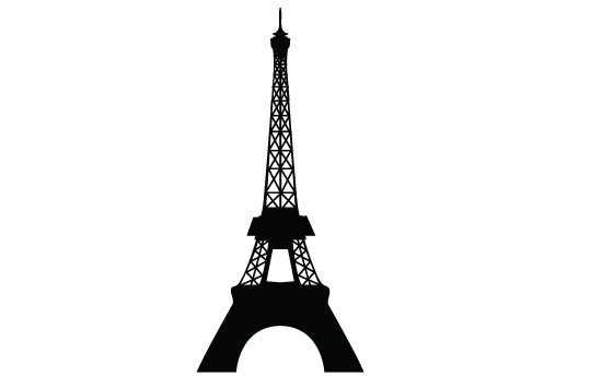 550x354 Eiffel Tower Silhouette Vector Vector Free Download, Silhouette