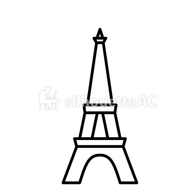 750x750 Free Vector Silhouettes Souvenir, Icon, Eiffel Tower, Simple