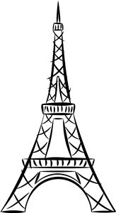 164x300 Drawn Eiffel Tower Silhouette