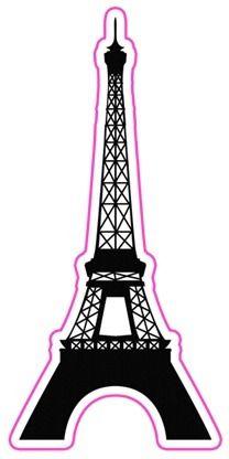 208x416 Eiffel Tower Silhouette Clipart Free Stock Photo Public Domain