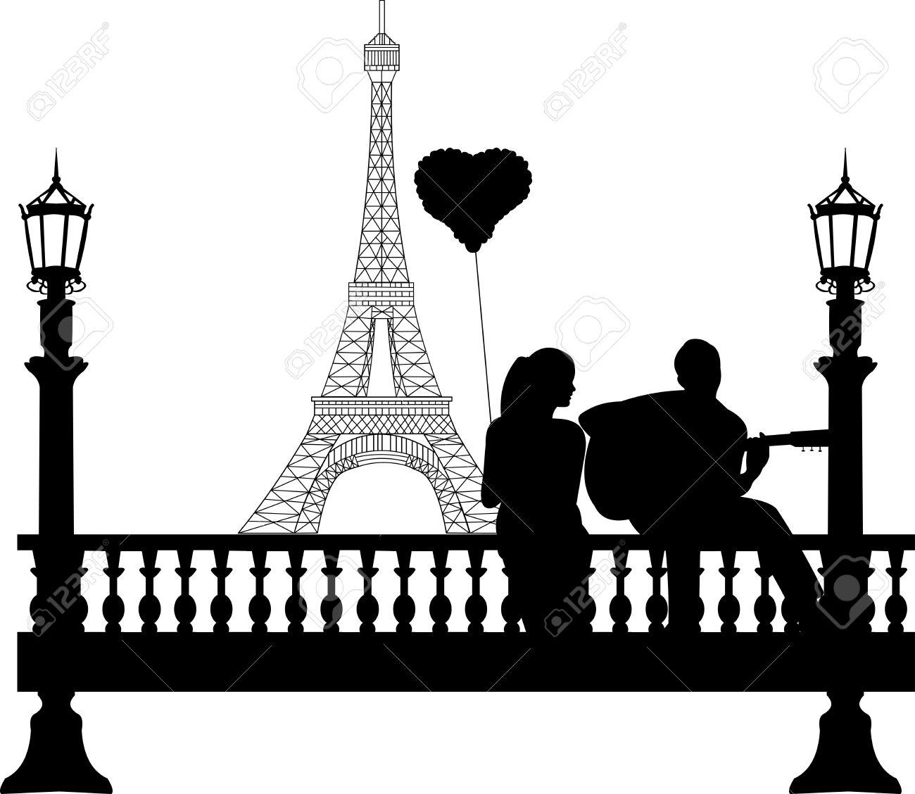 1300x1128 Eiffel Tower Clipart Love Silhouette