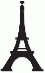 186x300 Eiffel Tower Love Silhouette Design, Decoupage And Silhouettes