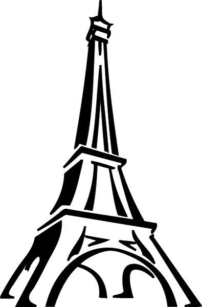 395x600 Drawn Eiffel Tower Silhouette