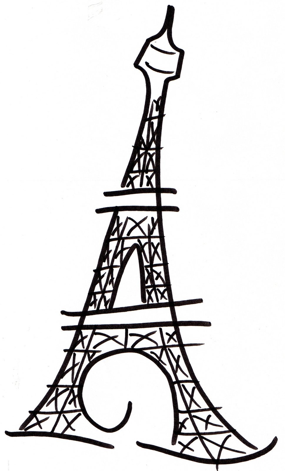 969x1600 Eiffel Tower Silhouette Clipart Free Stock Photo Public Domain 2