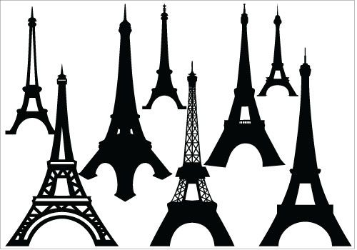 500x350 Eiffel Tower Silhouette Vector Artsilhouette Clip Art