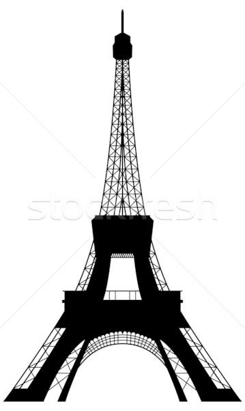359x600 Eiffel Tower Silhouette Vector Illustration Pavel Konovalov
