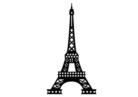 481x340 Free Cliparts Silhouette, Eiffel Tower