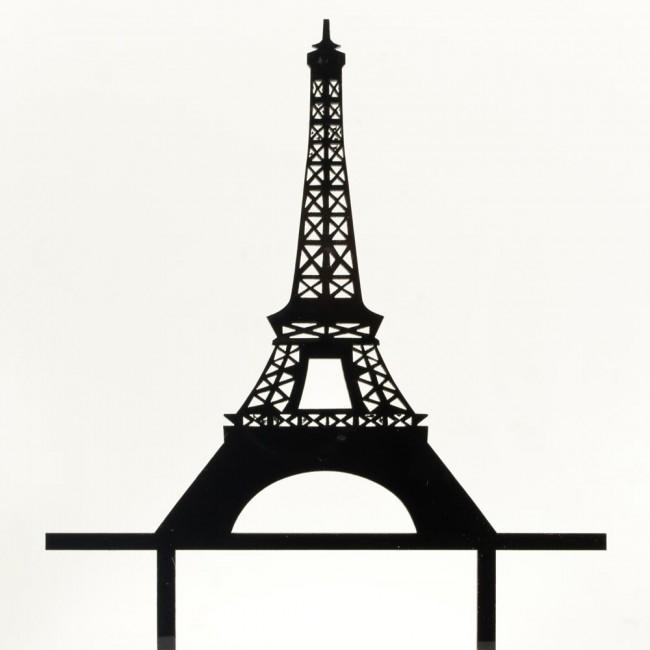 650x650 Romantic Paris Eiffel Tower Cake Topper Wedding Birthday Acrylic