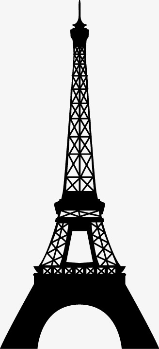 328x718 Eiffel Tower, Eiffel Tower Silhouette, Paris Landmark Png Image