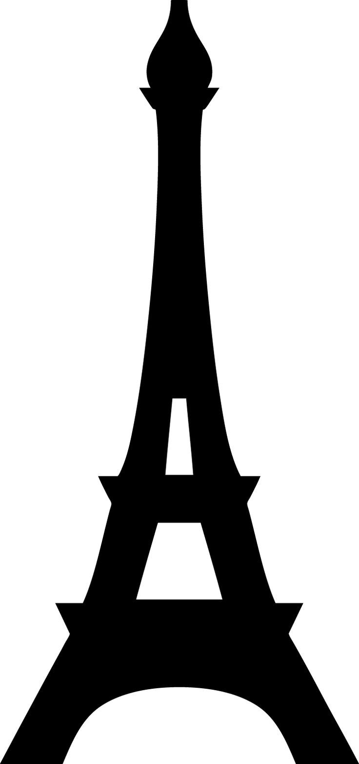 736x1563 Eiffel Tower Large Silhouette