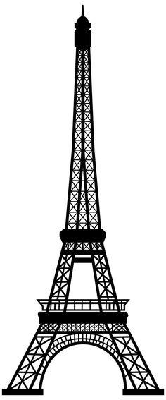 236x567 Eiffel Tower Silhouette Clipart Free Stock Photo