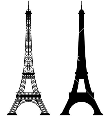 380x400 Eiffel Tower Silhouette Vector Eiffel Tower Vector On Vectorstock