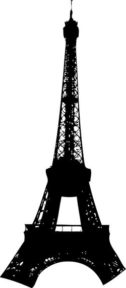 250x570 Eiffel Tower Silhouette