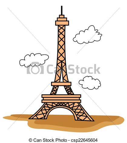 419x470 Eiffel Tower Vector Clipart