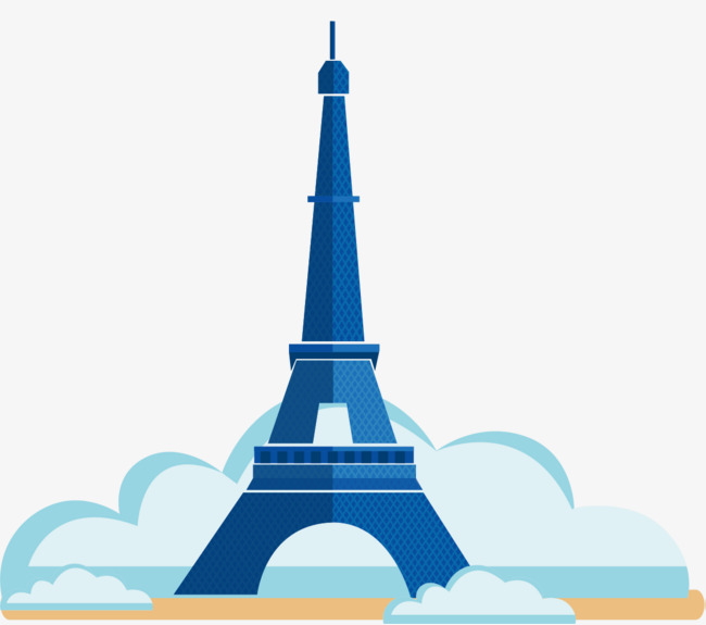 650x575 Sky Blue Tower, Eiffel Tower, Silhouette, Eiffel Tower Png