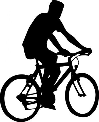 345x425 Bicyclist Silhouette Clip Art