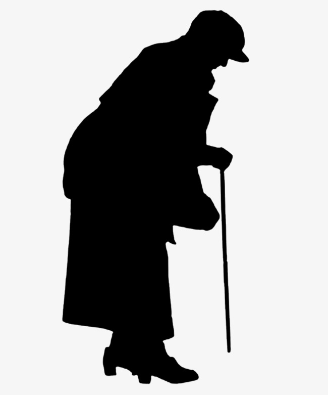 650x781 Crutches Lonely Old Lady Silhouette, Sketch, Old People, Crutches