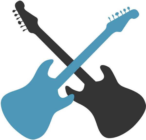 600x578 Guitar Silhouettes Free Vector In Adobe Illustrator Ai ( Ai