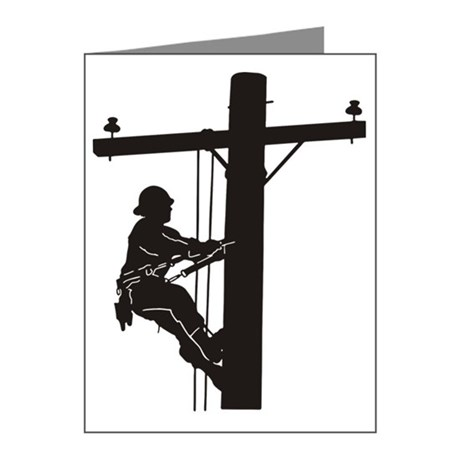 460x460 Electrical Lineman Invitations And Announcements