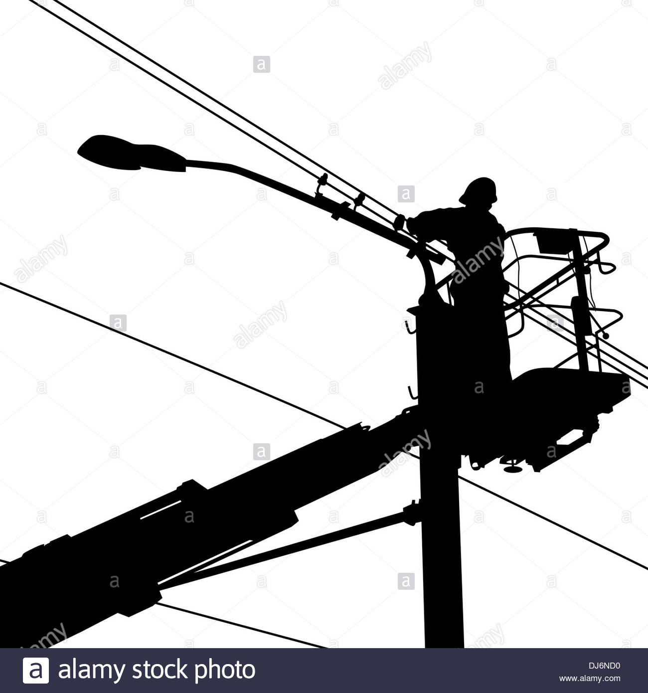 1300x1390 Electricity Electrician Electrical Worker Black And White Stock