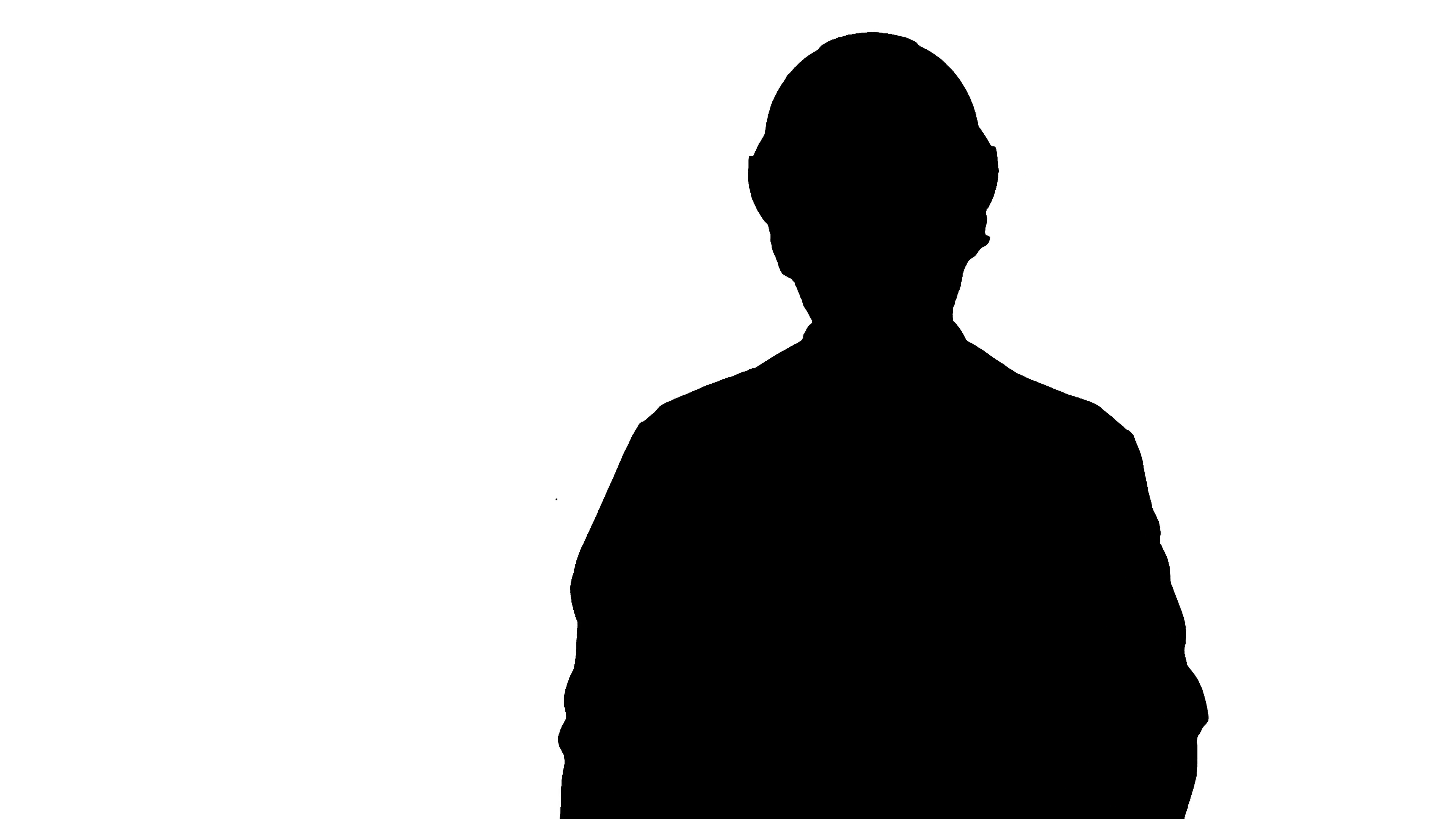 3840x2160 Silhouette Frustrated Workman In Helmet Over Track Matte Stock