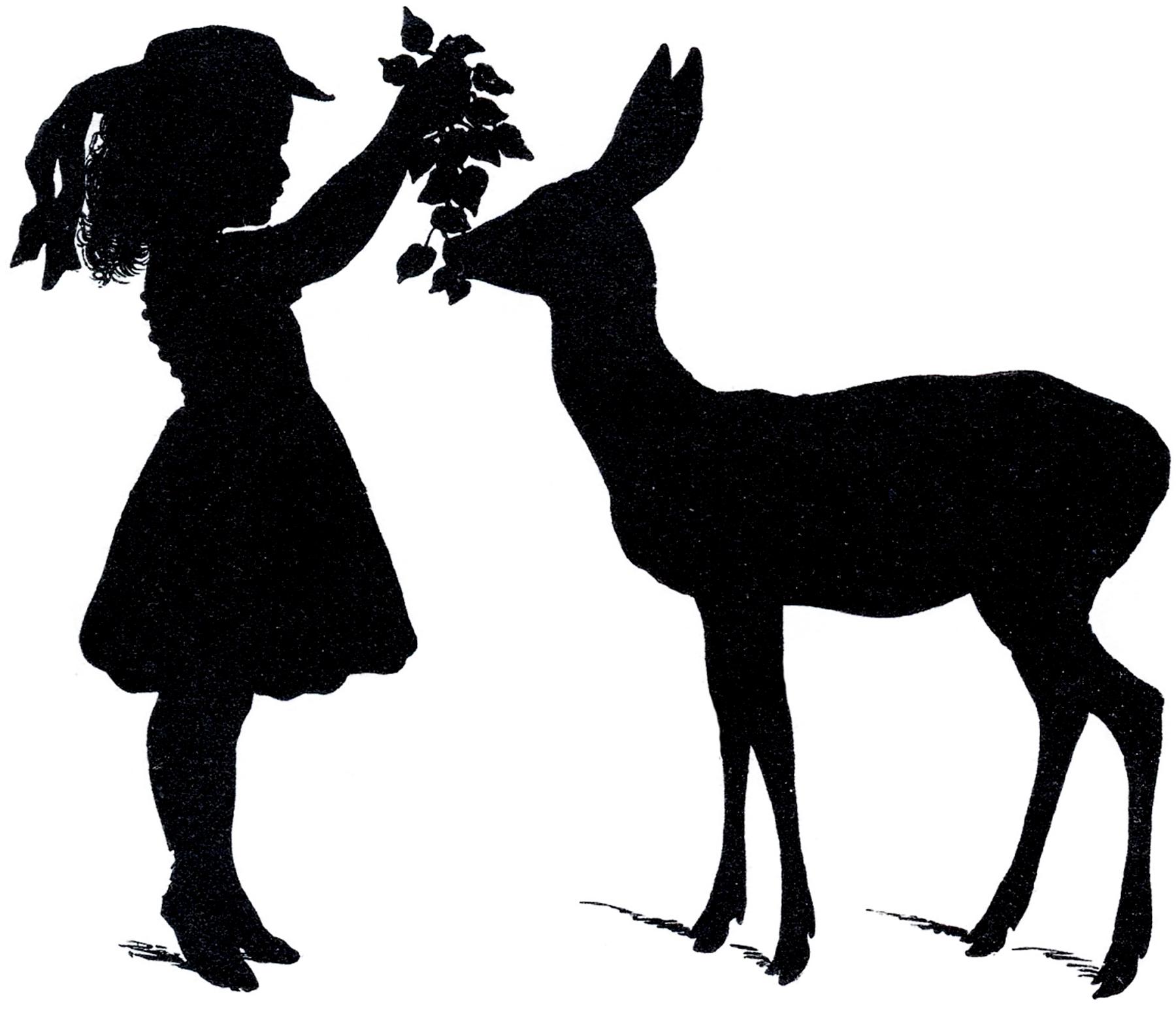 1800x1546 Deer Shadow Clipart