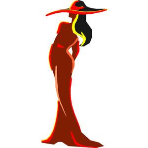 300x300 Free Elegant Woman Silhouette Clipart