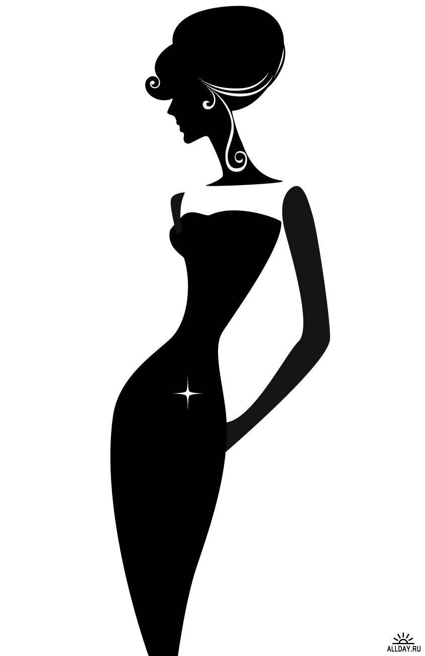846x1304 Silhouette Of A Elegant Woman Varios Elegant Woman