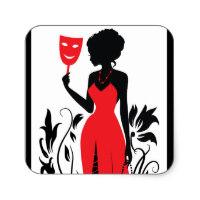 200x200 Woman Silhouette Stickers Zazzle