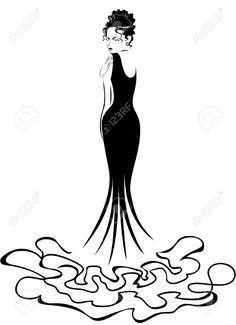 236x325 Woman Elegant Silhouette