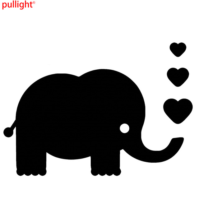 Elephant And Baby Silhouette