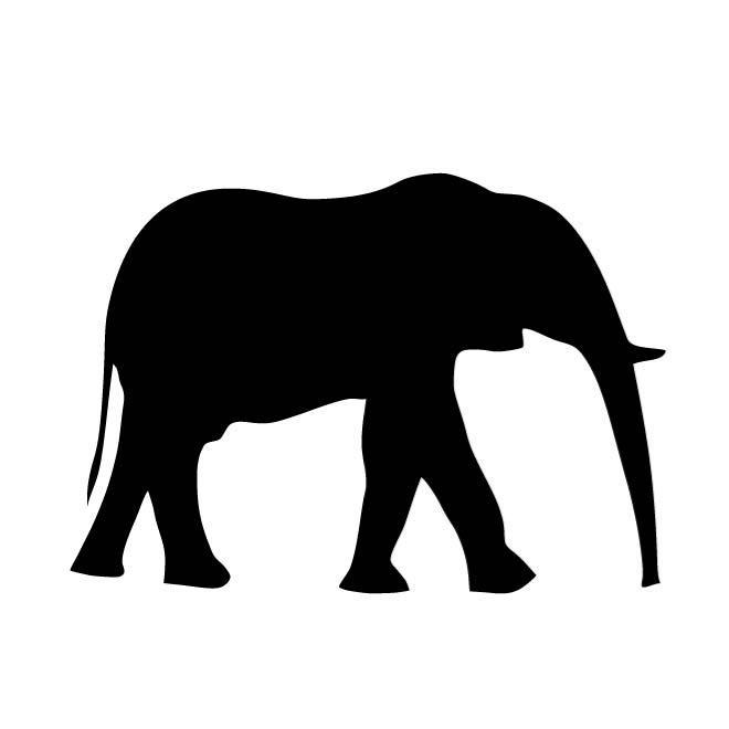 660x660 Elephant Outline Image