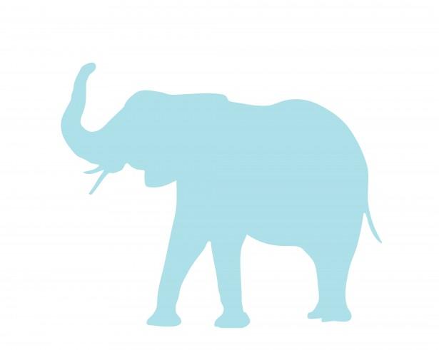 615x491 Elephant Blue Clipart Free Stock Photo
