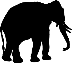 237x207 Elephant Silhouette Clip Art