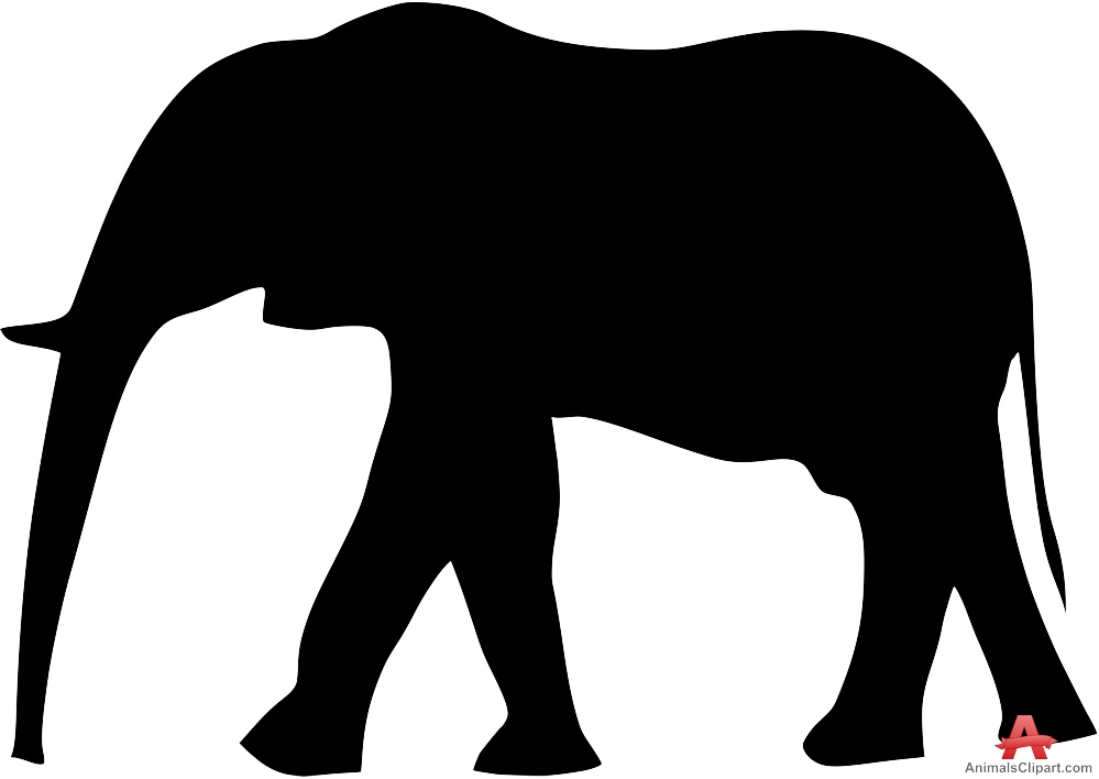 999x708 Walking Elephant Silhouette Free Clipart Design Download