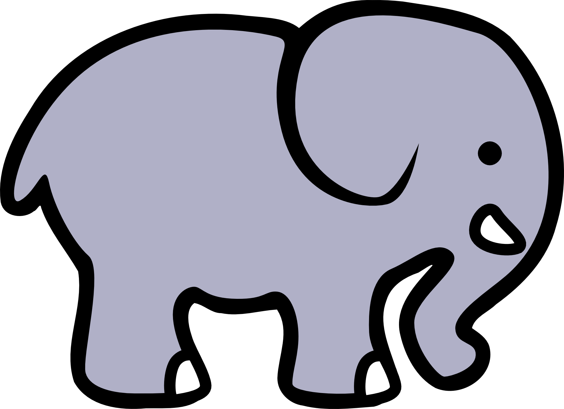 1979x1437 Clipart Of Elephants
