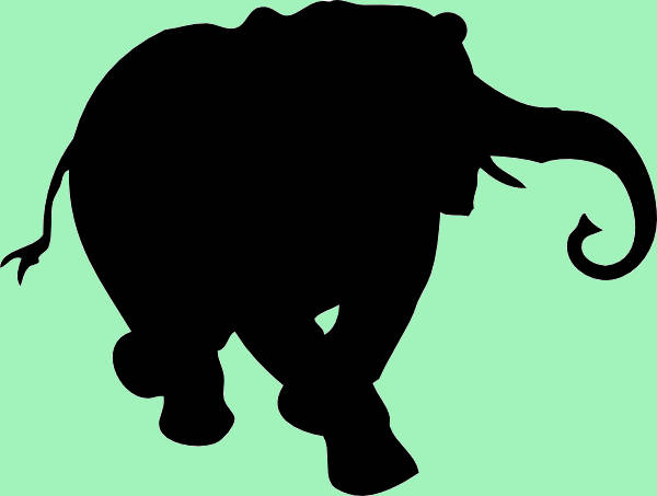 Elephant Clipart Silhouette